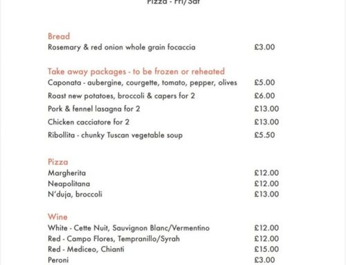 COVID-19 – The Parlour Cafe & Restaurant Takeaway service